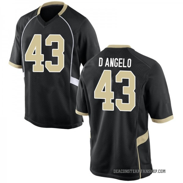 Men's Anthony D'Angelo Wake Forest Demon Deacons Nike Replica Black Football College Jersey