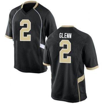 Men's Cameron Glenn Wake Forest Demon Deacons Nike Game Black Football College Jersey