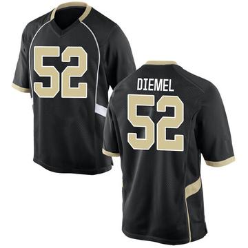 Men's Dayton Diemel Wake Forest Demon Deacons Nike Game Black Football College Jersey