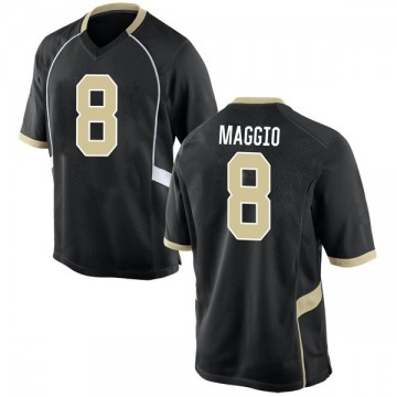 Men's Dom Maggio Wake Forest Demon Deacons Nike Game Black Football College Jersey
