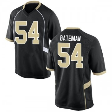 Men's Elontae Bateman Wake Forest Demon Deacons Nike Replica Black Football College Jersey