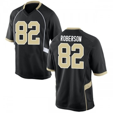 Men's Jaquarii Roberson Wake Forest Demon Deacons Nike Game Black Football College Jersey