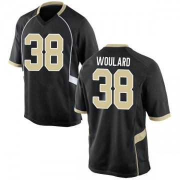 Men's Peyton Woulard Wake Forest Demon Deacons Nike Game Black Football College Jersey