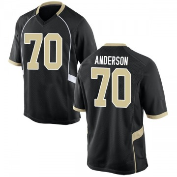 Men's Ryan Anderson Wake Forest Demon Deacons Nike Game Black Football College Jersey