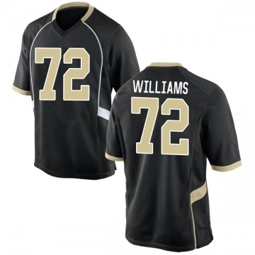 Men's Tyler Williams Wake Forest Demon Deacons Nike Game Black Football College Jersey