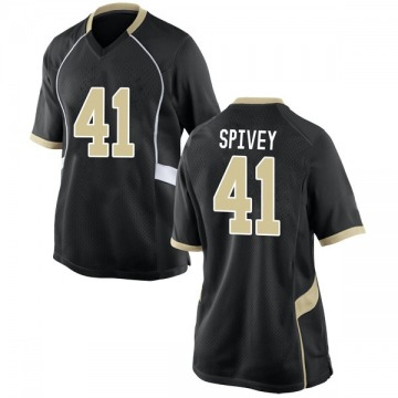 Women's Aaron Spivey Wake Forest Demon Deacons Nike Game Black Football College Jersey