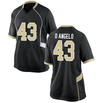 Women's Anthony D'Angelo Wake Forest Demon Deacons Nike Game Black Football College Jersey