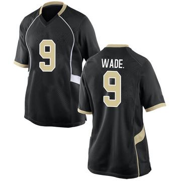 Women's Chuck Wade Jr. Wake Forest Demon Deacons Nike Game Black Football College Jersey
