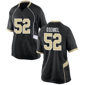 Women's Dayton Diemel Wake Forest Demon Deacons Nike Game Black Football College Jersey