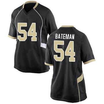 Women's Elontae Bateman Wake Forest Demon Deacons Nike Game Black Football College Jersey