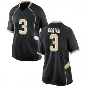 Women's Greg Dortch Wake Forest Demon Deacons Nike Game Black Football College Jersey