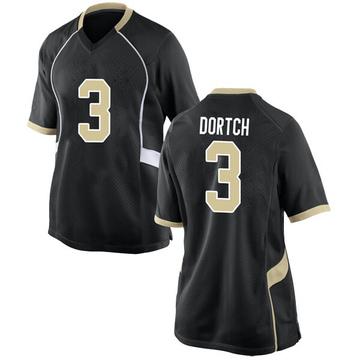 Women's Greg Dortch Wake Forest Demon Deacons Nike Replica Black Football College Jersey