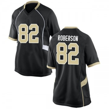 Women's Jaquarii Roberson Wake Forest Demon Deacons Nike Game Black Football College Jersey
