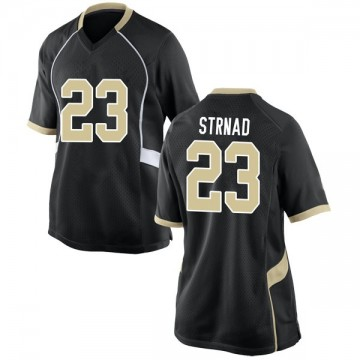 Women's Justin Strnad Wake Forest Demon Deacons Nike Game Black Football College Jersey
