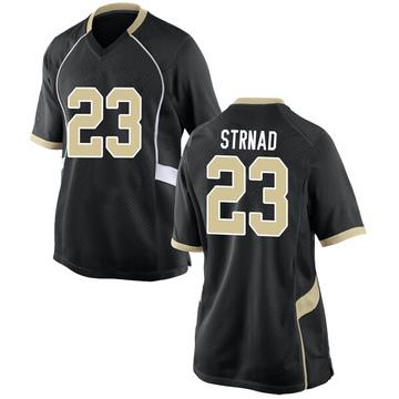 Women's Justin Strnad Wake Forest Demon Deacons Nike Replica Black Football College Jersey