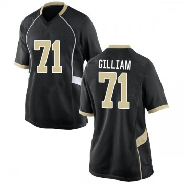 Women's Nathan Gilliam Wake Forest Demon Deacons Game Black Football College Jersey