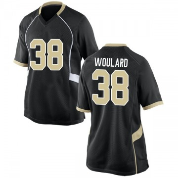 Women's Peyton Woulard Wake Forest Demon Deacons Nike Game Black Football College Jersey