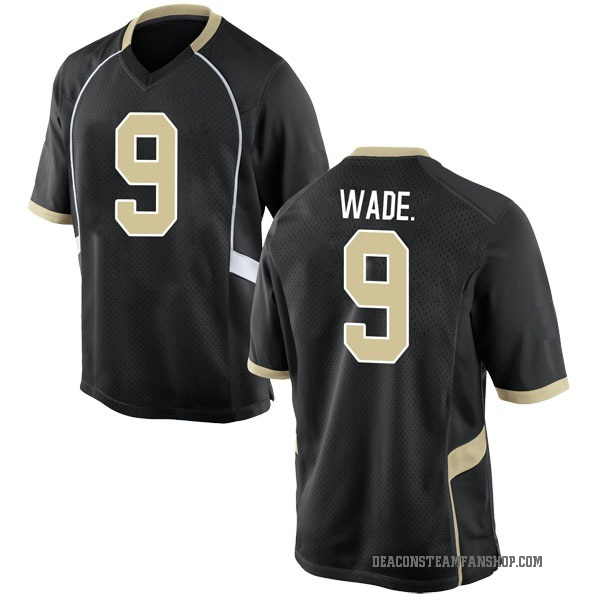 Youth Chuck Wade Jr. Wake Forest Demon Deacons Nike Game Black Football College Jersey