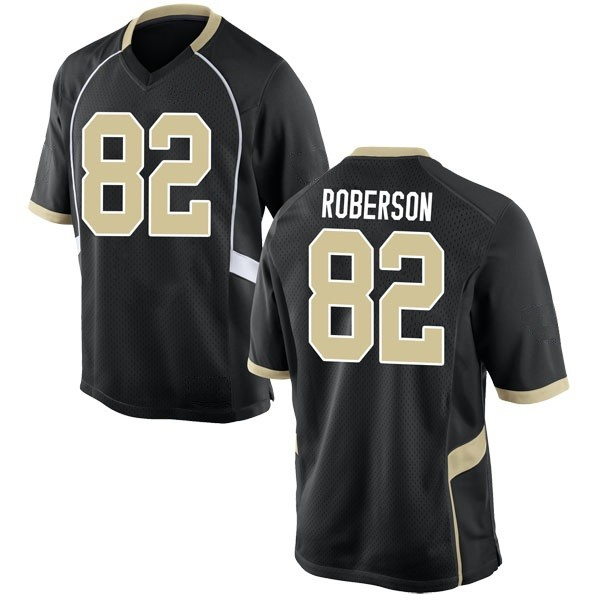 Youth Jaquarii Roberson Wake Forest Demon Deacons Nike Game Black Football College Jersey
