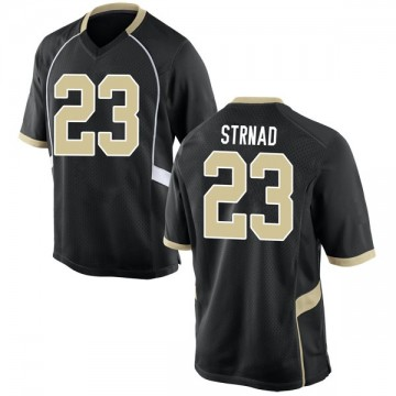 Youth Justin Strnad Wake Forest Demon Deacons Nike Game Black Football College Jersey