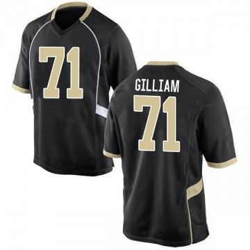 Youth Nathan Gilliam Wake Forest Demon Deacons Nike Game Black Football College Jersey